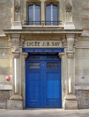 Ecole Jean-Baptiste Say - Français:   Rue Chardon-Lagache (n°8: une entrée du Lycée JB Say) - Paris XVI