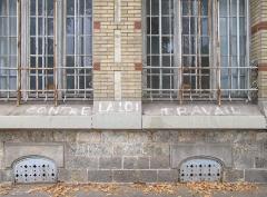 Ecole Jean-Baptiste Say - Français:   Tag anti-loi travail sur le lycée Jean-Baptiste Say (Paris, 16e).