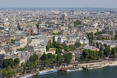 Hôtel -  The Right Bank as seen from the Eiffel Tower, Paris.