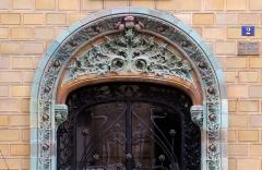 Immeuble Les Chardons - Français:   Rue Eugène-Manuel (n°2: immeuble \
