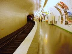Métropolitain, station Chardon-Lagache - Français:   Quai de la station Chardon-Lagache du métro de Paris (vue depuis l\'arrière du quai)