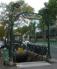 Métropolitain, station Kléber - Français:   Edicule Guimard de la station Kléber
