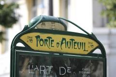 Métropolitain, station Porte-d'Auteuil -  Metro Porte d\'Auteuil, Paris.