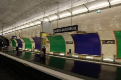 Métropolitain, station Porte-d'Auteuil -   (Auteuil) Boulevard de Montmorency  Porte d\'Auteuil metro station.
