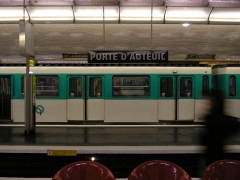 Métropolitain, station Porte-d'Auteuil - English: Front view of the Porte d'Auteuil Paris métro