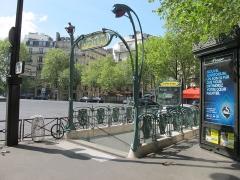Métropolitain, station Victor-Hugo - Français:   Station de métro de Paris - Victor Hugo