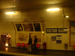 Métropolitain, station Victor-Hugo -  Victor Hugo metro station