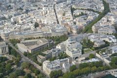 Palais d'Iéna, ancien Musée des Travaux Publics, actuel Conseil économique et social -  Palais d'Iéna and Musée Guimet from the Eiffel Tower.