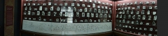 Pavillon de Balzac, actuellement musée - English: The timeline and genealogy of all the Balzac's characters, in one of the rooms of Maison de Balzac, in France