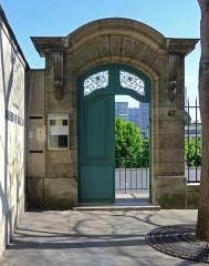 Pavillon de Balzac, actuellement musée - Rue Raynouard (n°47 maison de Balzac entrée) - Paris XVI