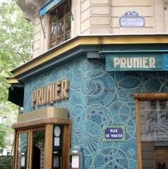 Restaurant Prunier - Français:   Le restaurant Prunier, à l\'angle de la rue de Traktir et de l\'avenue Victor-Hugo, Paris 16e.