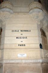 Ecole normale de musique Alfred Cortot -  Façade de l'Ecole Normale de Musique de Paris