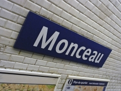 Métropolitain, station Monceau - Français:   Station Monceau de la ligne 2 du métro de Paris, France.