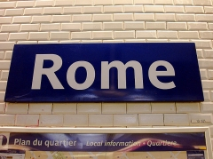 Métropolitain, station Rome - Français:   Station Rome de la ligne 2 du métro de Paris, France.