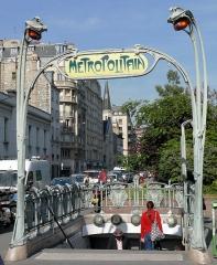 Métropolitain, station Rome - Français:   Paris 17ème arrondissement - Rome (Paris Metro)