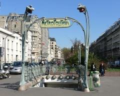 Métropolitain, station Rome -  Entrée style Guimard de la station Rome du Métro de Paris