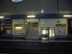 Métropolitain, station Villiers -  Metro Station of Villiers, Paris