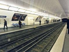 Métropolitain, station Villiers - Français:   Station Villiers de la ligne 2 du métro de Paris, France.