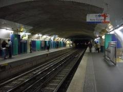Métropolitain, station Villiers - Français:   Quais en travaux de la station Villiers de la ligne 2 du métro de Paris.