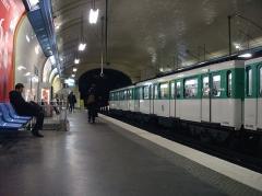 Métropolitain, station Villiers - Français:   Station Villiers, de la ligne 3 du métro de Paris, France.