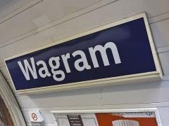 Métropolitain, station Wagram - Français:   Station Wagram de la ligne 3 du métro de Paris, France.