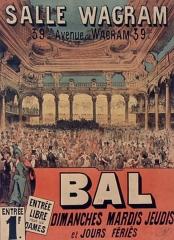 Salle Wagram -  Salle Wagram. Bal... entrée 1F.: affiche