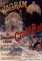 Salle Wagram -  Salle Wagram. Grand Bal à 8h. Dimanches et fêtes..: affiche