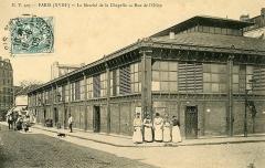 Marché de la Chapelle - Français:   Paris, Marché de l\'Olive, vers 1900