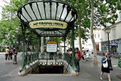 Métropolitain, station Abbesses -  entrance to metro in paris france