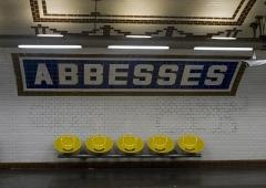 Métropolitain, station Abbesses - English: Abbesses metro station, Paris