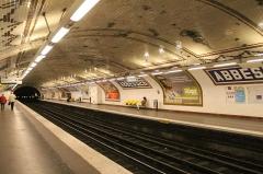 Métropolitain, station Abbesses -  Abbesses Metro station, Paris.
