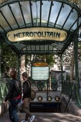 Métropolitain, station Abbesses -  Abbesses metro, Paris.