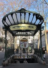 Métropolitain, station Abbesses - English: Entrance of the Paris metro station Abbesses