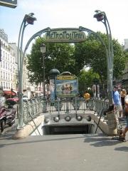 Métropolitain, station Anvers - English: Station entrance of Anvers (line 2/ligne 2) Paris, France