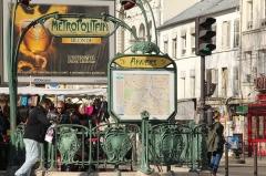 Métropolitain, station Anvers -  Anvers metro station, Paris.