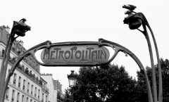Métropolitain, station Anvers - English: The subway station