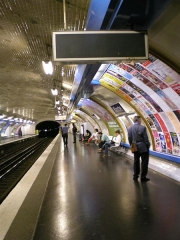 Métropolitain, station Blanche - English: The Paris metro station Blanche, line 2