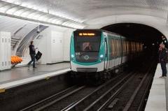 Métropolitain, station Blanche -  Blanche metro station, Paris.