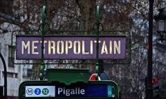 Métropolitain, station Pigalle -  Pigalle, Paris.