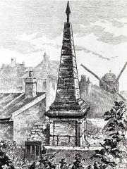 Monument dit Mire du Nord - Français:   Paris 18e arrondissement - Reproduction d\'une gravure de la Mire du nord vers 1900