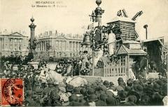 Moulin de la Galette - Français:   Le Char du Moulin de la Galette passe place de la Concorde le jour de la Mi-Carême 1907.