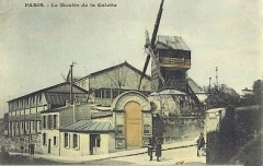 Moulin de la Galette -  Le Moulin de la Galette vers 1910