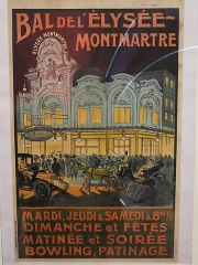 Théâtre de l'Elysée-Montmartre, ancien dancing - English: Poster about the bal de l'Élysée-Montmartre, Paris.