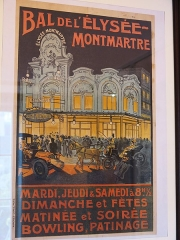 Théâtre de l'Elysée-Montmartre, ancien dancing - English: Poster of the ball of the Élysée-Montmartre (Paris 18th arrond., France) . Preserved in Montmartre museum.
