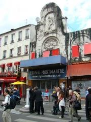 Théâtre de l'Elysée-Montmartre, ancien dancing -  Street theatre, Rue de Steinkerque / Boulevard de Rochechouart, Paris.