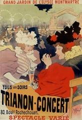 Théâtre de l'Elysée-Montmartre, ancien dancing -  Grand jardin de l'Elysée-Montmartre. Tous les soirs, Trianon-Concert, 80 Boul. Rochechouart: affiche