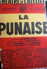 Théâtre Montmartre  , puis Théâtre de l'Atelier (ou Charles-Dullin) - Français:   Fig. 9: Affiche de La Punaise de Maïakovski au Théâtre de l'Atelier (1959)