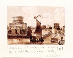 Ancienne barrière d'octroi de la Villette ou rotonde de la Villette - French painter and lithographer
