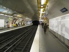 Métropolitain, station Crimée -  Station Crimée, ligne 7 du métro de Paris, France.