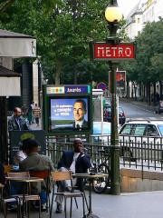 Métropolitain, station Jaurès -  Jaurès metro entrance